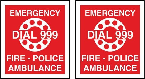 Picture of Fire Emergency Diat 999  Stickers