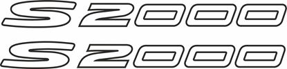 Picture of Honda S 2000 replacement General pane / Glass l Decals / Stickers