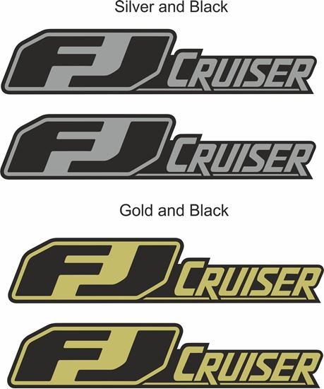 """Picture of Toyota """"FJ Cruiser"""" side replacement Badge Decals / Stickers"""