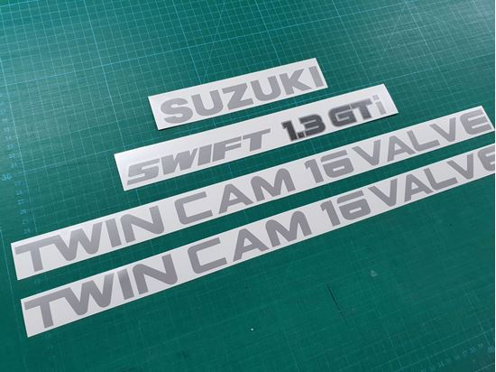 Picture of Suzuki Swift 1.3 GTi Twin Cam 16 Valve Replacement Decals / Stickers