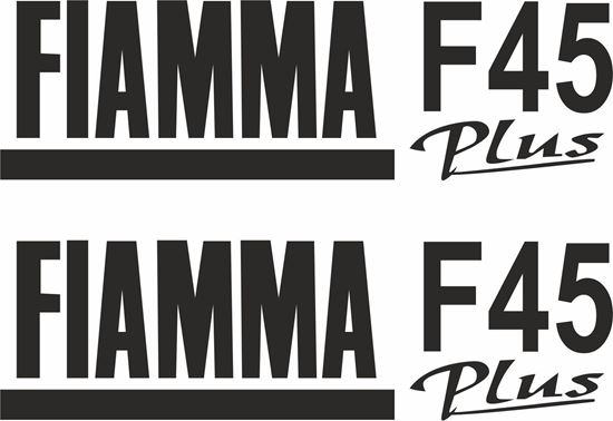 "Picture of ""Fiamma F45 Plus"" panel  Decals  / Stickers"