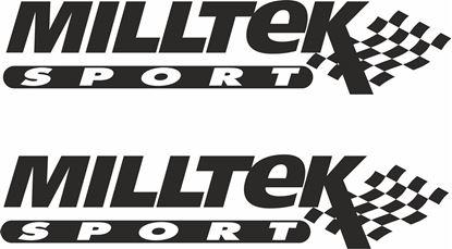 """Picture of """"Milltek Sport""""  Decals / Stickers"""