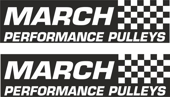 "Picture of ""March Performance Pullys""  Decals / Stickers"
