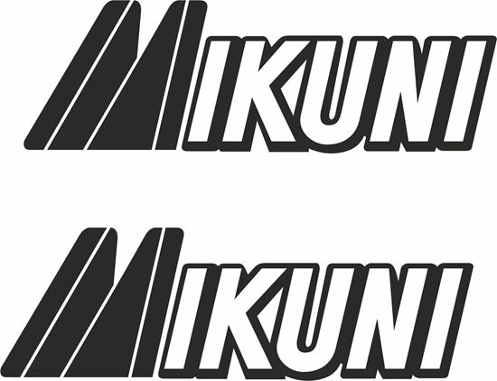 """Picture of """"Mikuni""""  Decals / Stickers"""