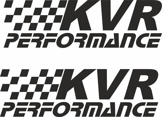 """Picture of """"KVR Performance""""  Decals / Stickers"""