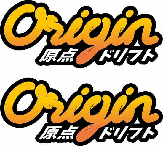 "Picture of ""Origin""  JDM DM Decals / Stickers"