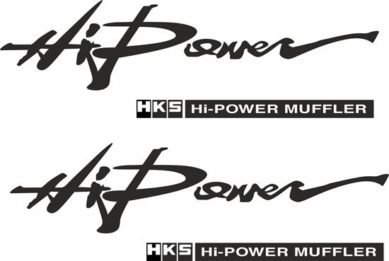 """Picture of """"Hi Power HKS..."""" JDM Decals / Stickers"""