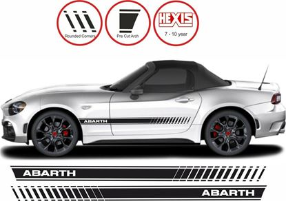 Picture of Fiat 124 Spider Abarth  side stripes  / Stickers