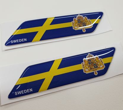 Picture of Sweden 70mm Exterior Gel Badges