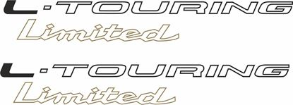 """Picture of Toyota Corolla WAGON 1991 - 2002 """" L-TOURING Linited"""" replacement side Decals / Stickers"""