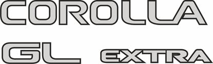 Picture of Toyota Corolla GL Extra WAGON 1997 - 2000  replacement rear Decals / Stickers