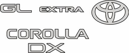 Picture of Toyota Corolla DX  GL Extra WAGON 1997 - 2000  replacement rear Decals / Stickers