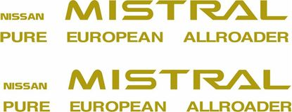 Picture of Nissan Mistral replacement Decals / Stickers