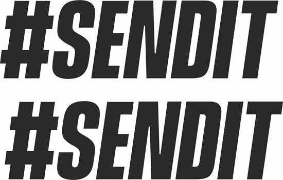 "Picture of ""#SENDIT"" JDM Decals / Stickers"