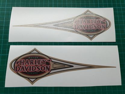 Picture of Harley Davidson Heritage Softail Tank Decals / Stickers
