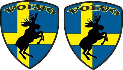 Picture of Volvo Prancing Moose wing Decals / Stickers
