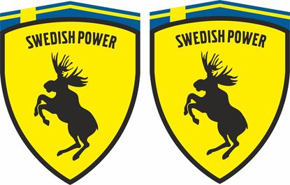 "Picture of Volvo Prancing Moose  ""Swedish Power""   wing Decals / Stickers"