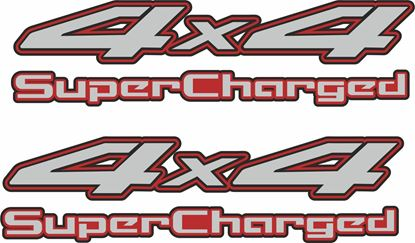 "Picture of Nissan Navara / Frontier 1998 - 2004  ""4x4 Supercharged""  Side replacement Decals / Stickers"
