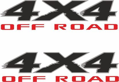 "Picture of Nissan  Titan / Armada 2003 - 2015 ""4x4 off road"" replacement side Decals / Stickers"