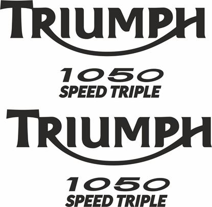 Picture of Triumph Speed Triple 1050 replacement Decals / Stickers