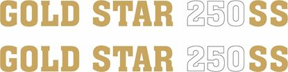 Picture of BSA Gold Star 250SS Side panel restoration Decals / Stickers