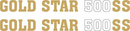 Picture of BSA Gold Star 500 SS Side panel restoration Decals / Stickers