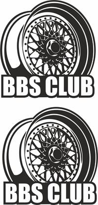 Picture of BBS Club Decals / Stickers