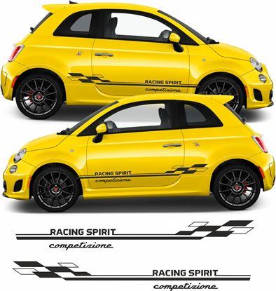 Picture of Fiat  500 / 595 Competizione side Stripes / Stickers