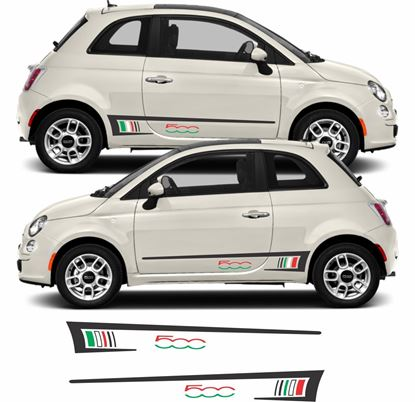 Picture of Fiat  500 side Stripes Decals / Stickers