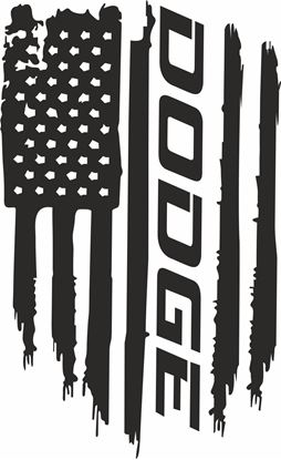 Picture of Dodge Ram distressed Flag Hood Decal / Sticker