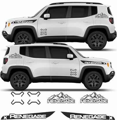 Picture of Jeep Renegade Side Graphics kit