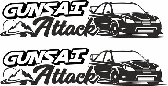 "Picture of ""Gunsai Attack""  JDM Decals / Stickers"