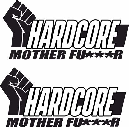 "Picture of ""Hardcore..."" JDM Decals / Stickers"
