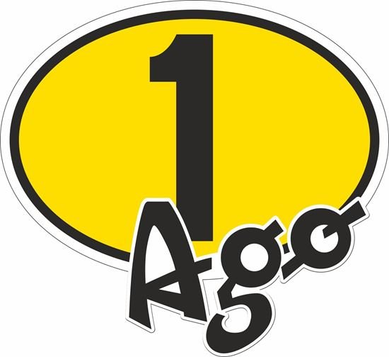 "Picture of ""1 Ago"" Giacomo Agostini Track and street race nose cone number Decal / Sticker"