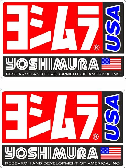 """Picture of """"Yoshimura USA""""  Track and street race sponsor Decals / Stickers"""