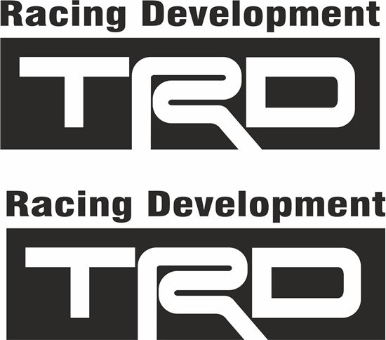 """Picture of """"TRD Racing Development"""""""" Decals / Stickers"""