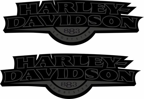 Picture of Harley Davidson Sportster 883 Tank  Decals / Stickers
