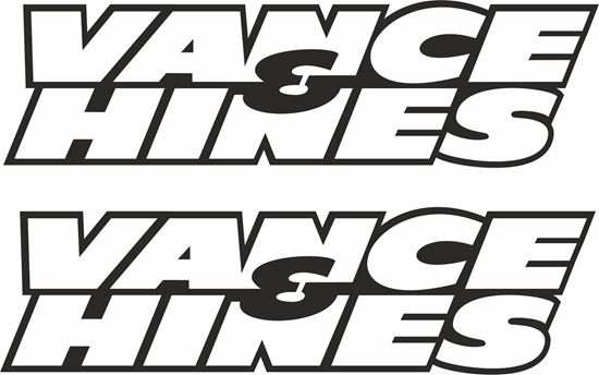 """Picture of """"Vance & Hines""""  Decals / Stickers"""