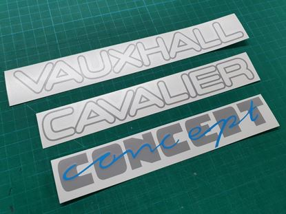 Picture of Vauxhall Cavalier MK3 Concept replacement rear Decals / stickers
