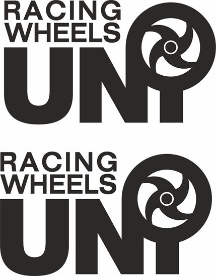 """Picture of """"Uni Racing Wheels"""" Decals / Stickers"""