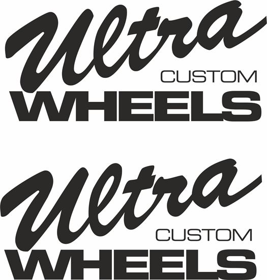 "Picture of ""Ultra Custom Wheels"" Decals / Stickers"