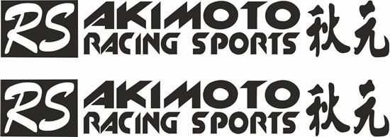 """Picture of """"RS Racing Sports Akimoto"""" Decals / Stickers"""