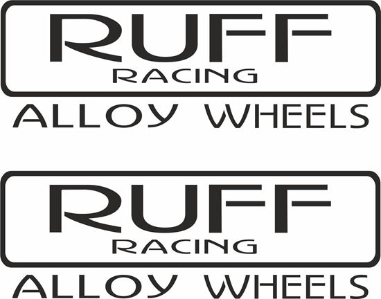 "Picture of ""Ruff Racing Alloy Wheels"" Decals / Stickers"