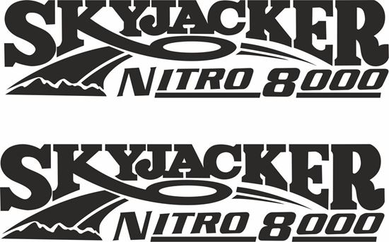 "Picture of ""Skyjacker Nitro 8000"" Decals / Stickers"
