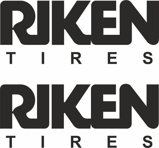 "Picture of ""Riken Tires"" Decals / Stickers"