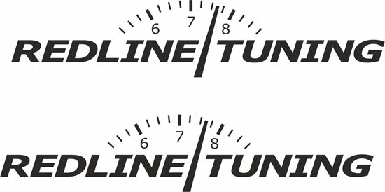 """Picture of """"Redline Tuning"""" Decals / Stickers"""