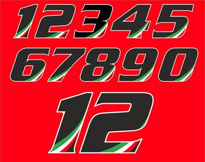 Picture of Track Day Italia Door Number Decals  / Stickers