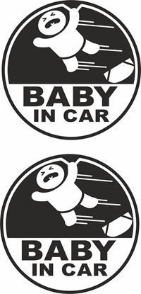 Picture of Baby in Car Decals / Stickers