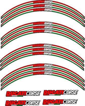 Picture of Ducati Corse  Wheel Rim Decals / Stickers Kit