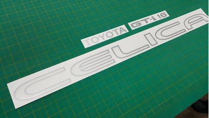 Picture of Toyota Celica 2.0 GT- 16  ST162 replacement rear hatch Decals / Stickers